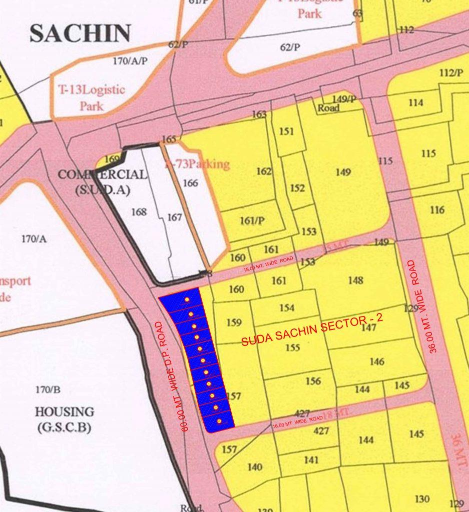 SUDA Sachin Sector 2 Map
